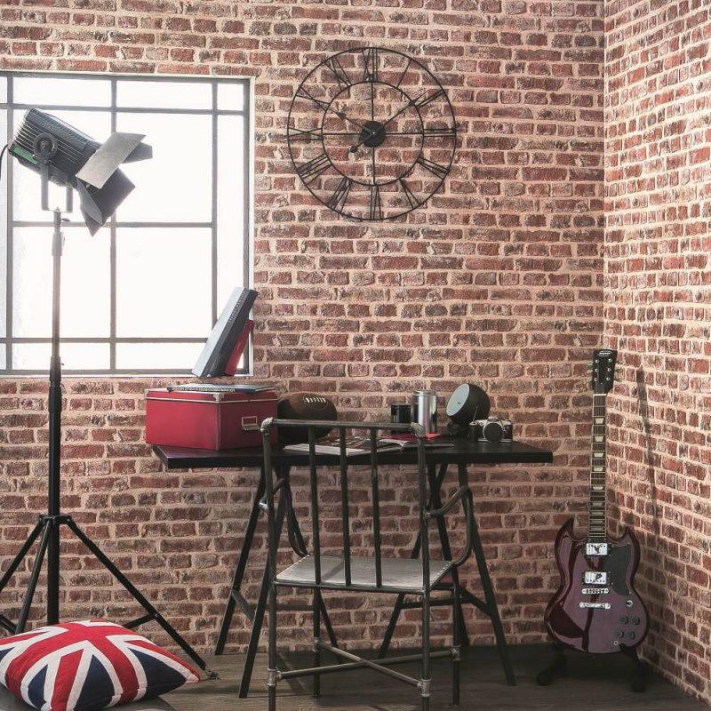 The Brick effect  wallpaper, a stylish decoration