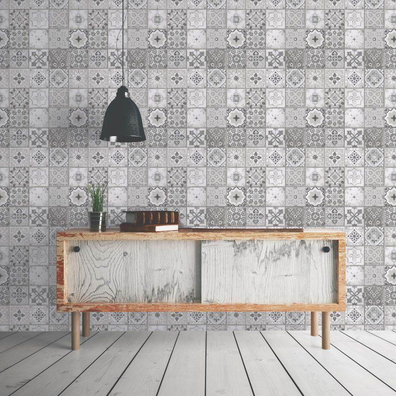 Tile wallpaper in a