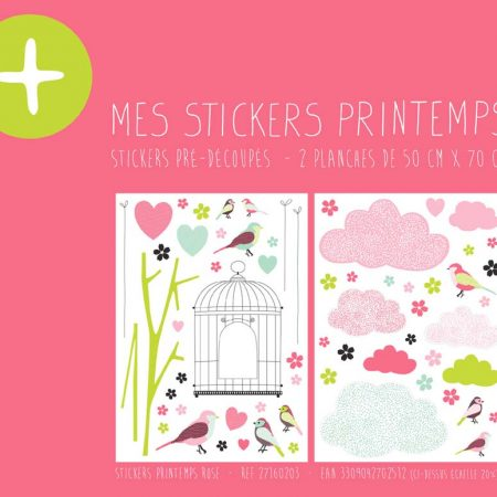 STICKER PRINTEMPS ROSE – 27160203-en