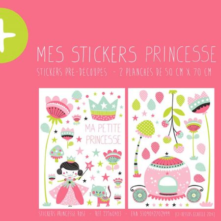 STICKER PRINCESSE ROSE – 27160403-en